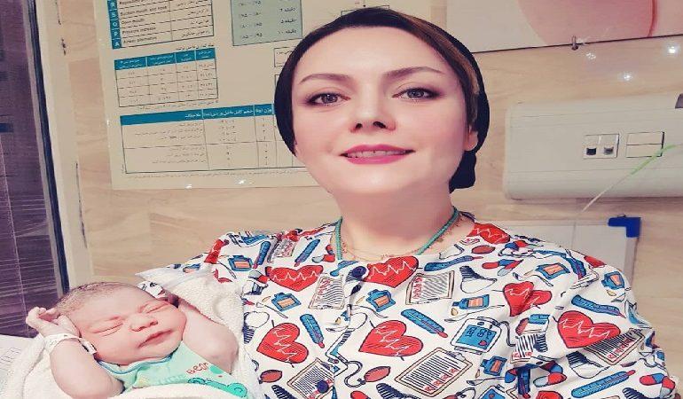 زایمان طبیعی مادر 19 ساله دکتر آرزو سعیدی